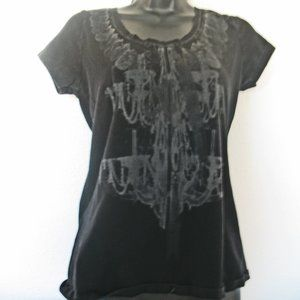 Kenneth Cole Reaction Graphic T-shirt Small Black